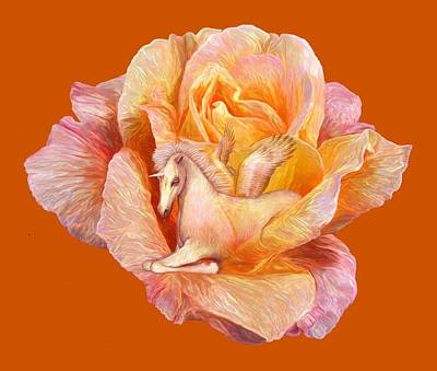 Unicorn Mixed Media - Unicorn Rose by Carol Cavalaris