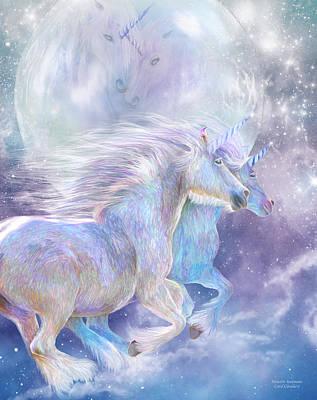 Unicorn Mixed Media - Unicorn Soulmates by Carol Cavalaris