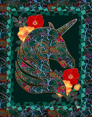 Unicorn Tapestry Print by Sharon and Renee Lozen