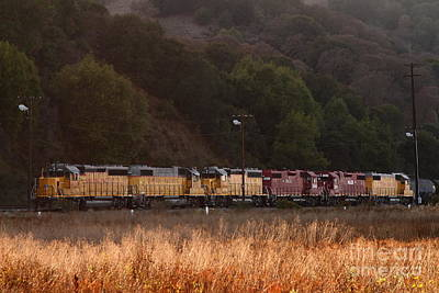 Union Pacific Locomotive Trains . 7d10551 Print by Wingsdomain Art and Photography