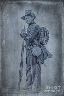 Union Soldier With Rifle Print by Randy Steele
