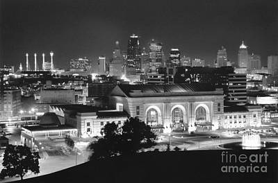 Crystal Photograph - Union Station In Black And White by Crystal Nederman