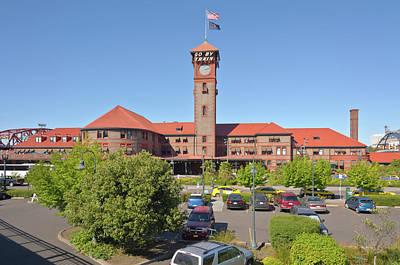Union Station In Portland Oregon. Original by Gino Rigucci