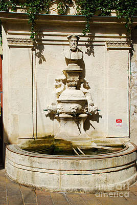 Nostradamus Fountain In Saint Remy De Provence France Print by Just Eclectic
