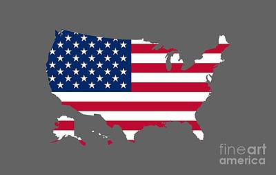 United States Flag Map Original by Frederick Holiday