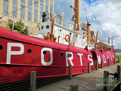 Colorful Photograph - United States Lightship Portsmouth 6 by Lanjee Chee