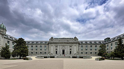 Dormitories Photograph - United States Naval Academy - Bancroft Hall by Brendan Reals