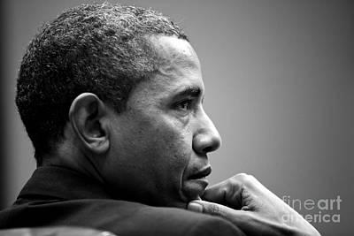 Barack Obama Painting - United States President Barack Obama by Celestial Images