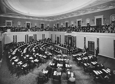 Senate Photograph - United States Senate by Underwood Archives