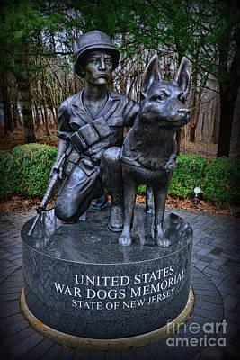 United States War Dog Memorial Print by Paul Ward