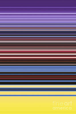 Multi-color Digital Art - Unity Of Colour 6 by Tim Gainey