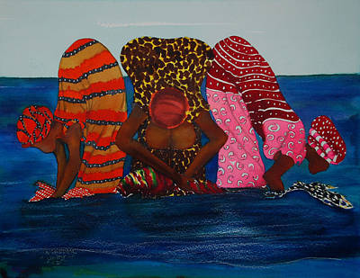 Laundry Painting - Unity- Wash Day by Amos Harper