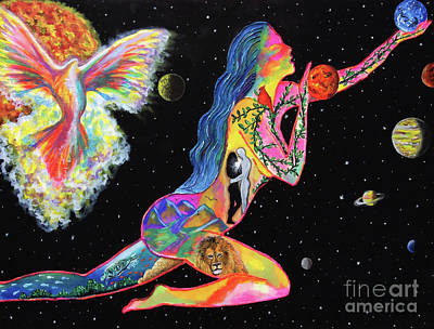 The Universe Painting - Universal Love by Jacqueline Martin