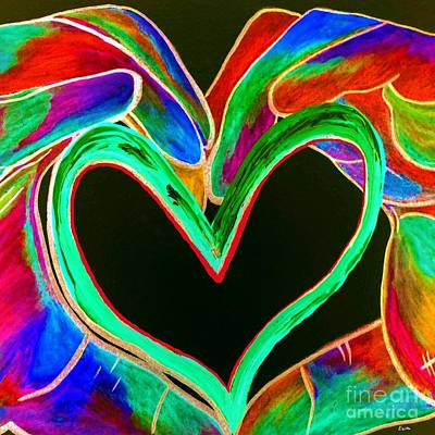 Presents Painting - Universal Sign For Love by Eloise Schneider