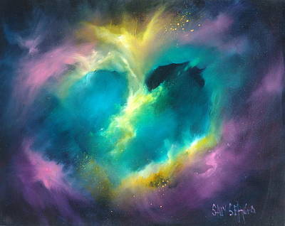 Cosmos Painting - Universe Of The Heart by Sally Seago
