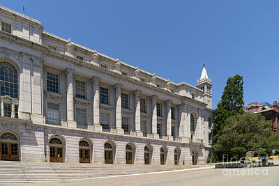 University Of California Berkeley Historic Ide Wheeler Hall South Hall And The Campanile Dsc4064 Print by Wingsdomain Art and Photography