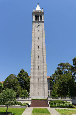 University Of California Berkeley Sather Tower The Campanile Dsc4045 Print by Wingsdomain Art and Photography