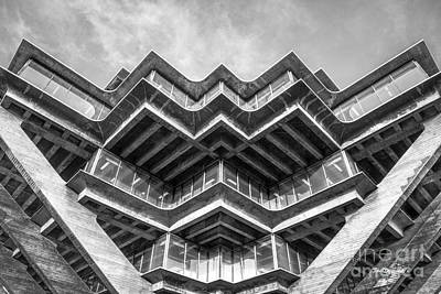 University Of California Photograph - University Of California San Diego Geisel Library Abstract by University Icons