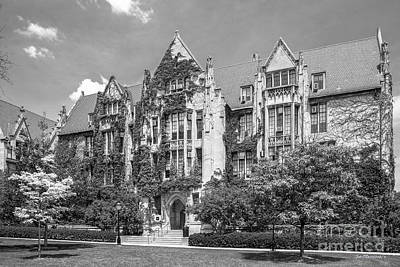 University Of Chicago Eckhart Hall Print by University Icons