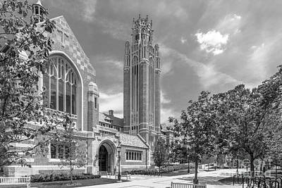 University Of Chicago Saieh Hall For Economics Print by University Icons