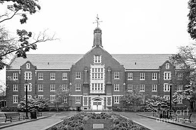 University Of Connecticut Whitney Hall Print by University Icons