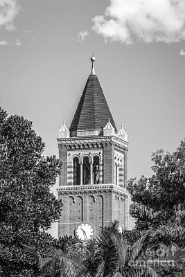 University Of Southern California Clock Tower Print by University Icons