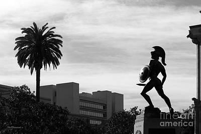 University Of Southern California Tommy Trojan Print by University Icons