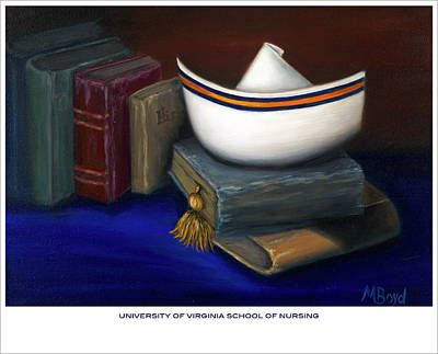 University School Painting - University Of Virginia School Of Nursing by Marlyn Boyd