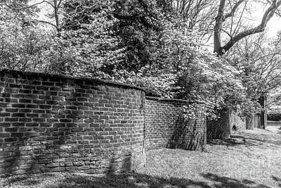 Uva Photograph - University Of Virginia Serpentine Garden Wall by University Icons