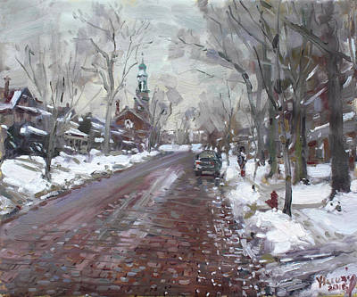 Marquette Painting - University Presbyterian Church by Ylli Haruni