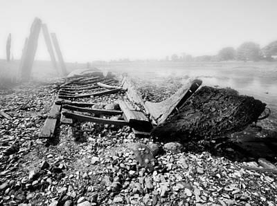 Unknown Shipwreck  Print by Dapixara Art
