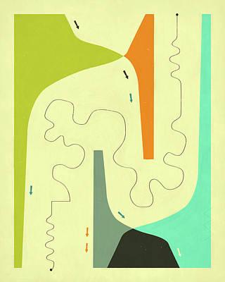 Modern Abstract Art Digital Art - Unnatural Causes by Jazzberry Blue