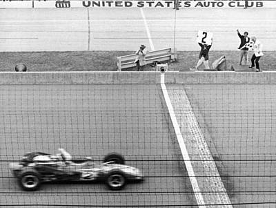 Indiana Photograph - Unser Wins Indie 500 by Underwood Archives