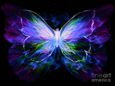 Butterfly Painting - Unspoken Beauty  by Pam Herrick
