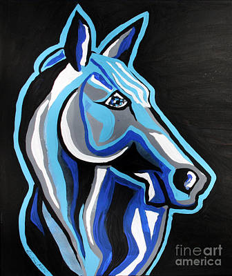 Cowboy Painting - Until I See You Again - Abstract Horse Art By Valentina Miletic by Valentina Miletic