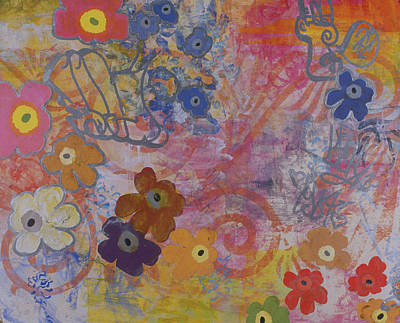 Abstract Collage Painting - Untitled 006 by Gloria Von Sperling