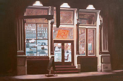 Store Fronts Painting - Untitled by Anthony Butera