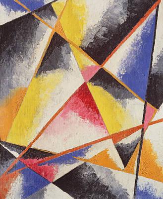 Abstract Lines Painting - Untitled by Lyubov Sergeevna Popova