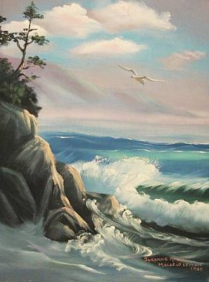 Suzanne Marie Leclair Painting - Untitled Seascape by Suzanne  Marie Leclair