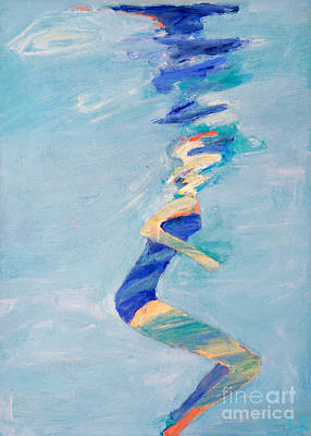 Free Form Painting - Untitled Swimmer by Lisa Baack
