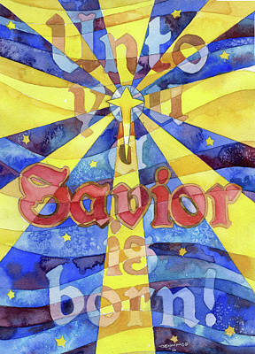 Unto You A Savior Is Born Print by Mark Jennings