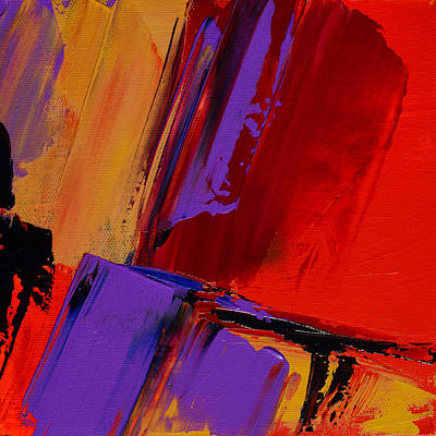 Red Abstract Painting - Up And Down - Art By Elise Palmigiani by Elise Palmigiani