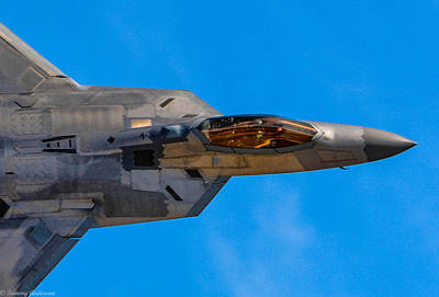 Planes Of Fame Photograph - Up Close F-22 Raptor by Tommy Anderson