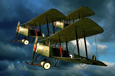 Bi Plane Digital Art - Up In The Air by Steven Agius