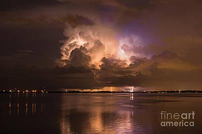 Lightning Photograph - Up River by Quinn Sedam