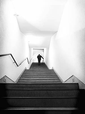 Up Stairs Print by Artecco Fine Art Photography