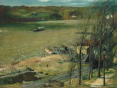 Up The Hudson Print by George Bellows