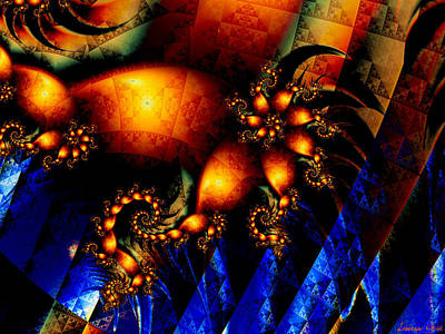 Abstract Windmill Digital Art - Up The Volume by Lauren Goia