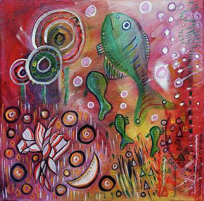 Subconscious Mixed Media - Up We Go  by Mimulux patricia no