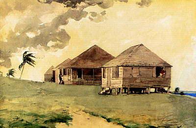 Bahamas Landscape Painting - Upcoming Tornado Bahamas by Winslow Homer